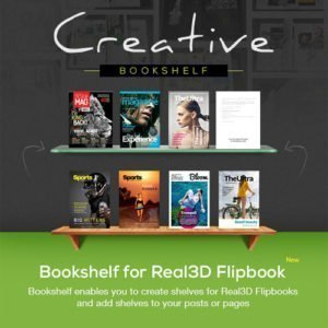 Sale! Buy Discount Bookshelf for Real3D Flipbook Addon - Cheap Discount Price