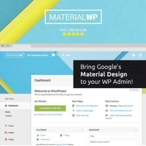 Sale! Buy Discount Material WP – Material Design Dashboard Theme - Cheap Discount Price