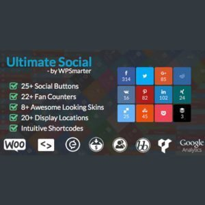 Sale! Buy Discount Ultimate Social – Easy Social Share Buttons and Fan Counters for WordPress - Cheap Discount Price