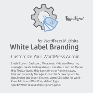 Sale! Buy Discount White Label Branding for WordPress Multisite - Cheap Discount Price