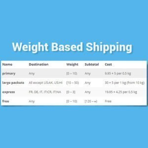Sale! Buy Discount WooCommerce Weight Based Shipping - Cheap Discount Price