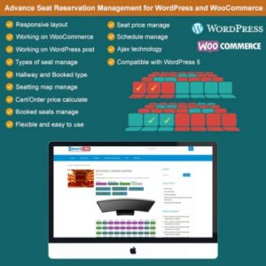 Sale! Buy Discount Advance Seat Reservation Management for WooCommerce - Cheap Discount Price