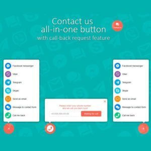 Sale! Buy Discount Contact us all-in-one button with callback request feature for WordPress - Cheap Discount Price