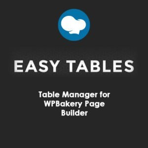 Sale! Buy Discount Easy Tables – Table Manager for WPBakery Page Builder - Cheap Discount Price