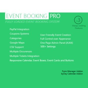 Sale! Buy Discount Event Booking Pro – WP Plugin [paypal or offline] - Cheap Discount Price