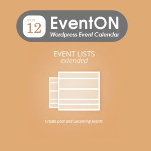 Sale! Buy Discount EventOn Event Lists: Ext - Cheap Discount Price