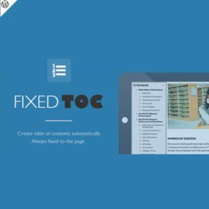 Sale! Buy Discount Fixed TOC – table of contents for WordPress plugin - Cheap Discount Price