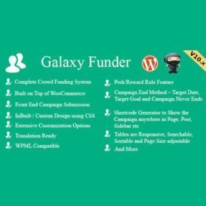 Sale! Buy Discount Galaxy Funder – WooCommerce Crowdfunding System - Cheap Discount Price