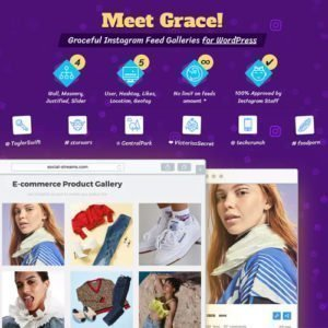Sale! Buy Discount Instagram Feed Gallery — Grace for WordPress - Cheap Discount Price