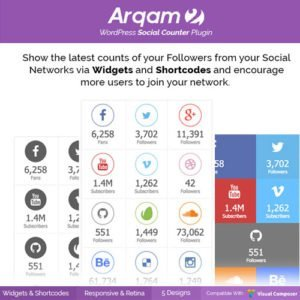 Sale! Buy Discount Social Counter Plugin for WordPress – Arqam - Cheap Discount Price