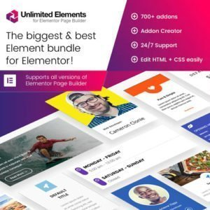 Sale! Buy Discount Unlimited Elements for Elementor Page Builder - Cheap Discount Price