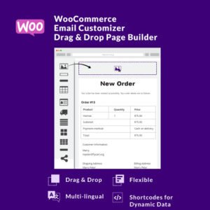 Sale! Buy Discount WooCommerce Email Customizer with Drag and Drop Email Builder - Cheap Discount Price
